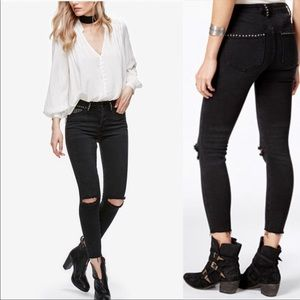 Free People Studded Payton skinny jeans 26